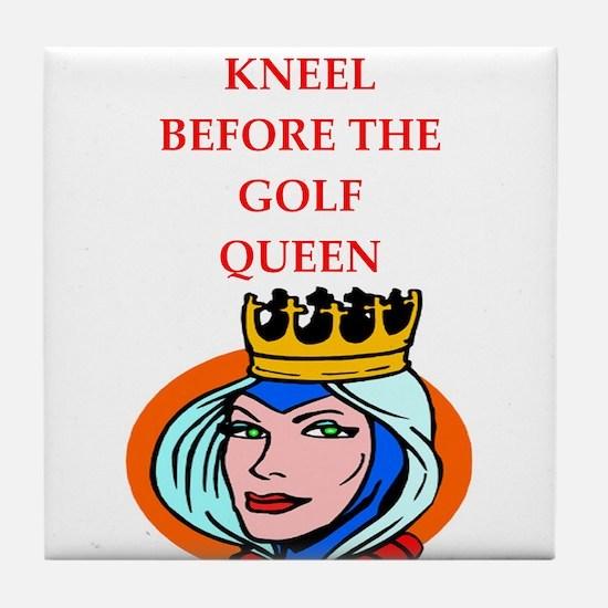 Golf joke Tile Coaster
