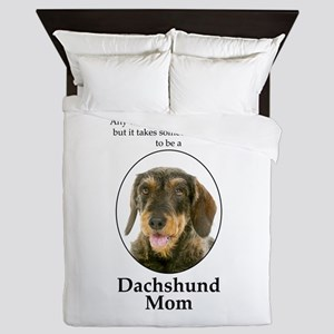 Dachshund Mom Queen Duvet