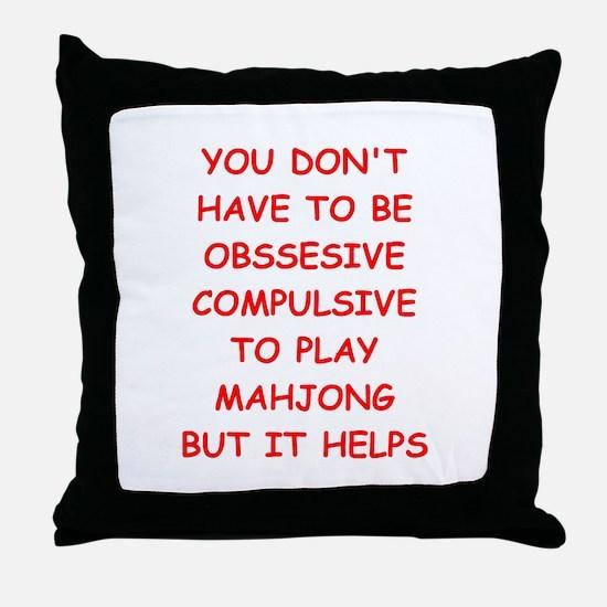 mahjong Throw Pillow