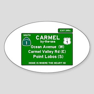 HIGHWAY 1 SIGN - CALIFORNIA - CARMEL - OCE Sticker