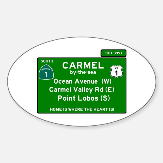 HIGHWAY 1 SIGN - CALIFORNIA - CARMEL - OCE Decal