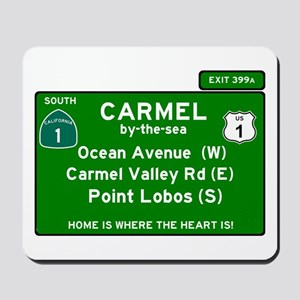 HIGHWAY 1 SIGN - CALIFORNIA - CARMEL - O Mousepad