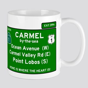 HIGHWAY 1 SIGN - CALIFORNIA - CARMEL - OCEAN Mugs