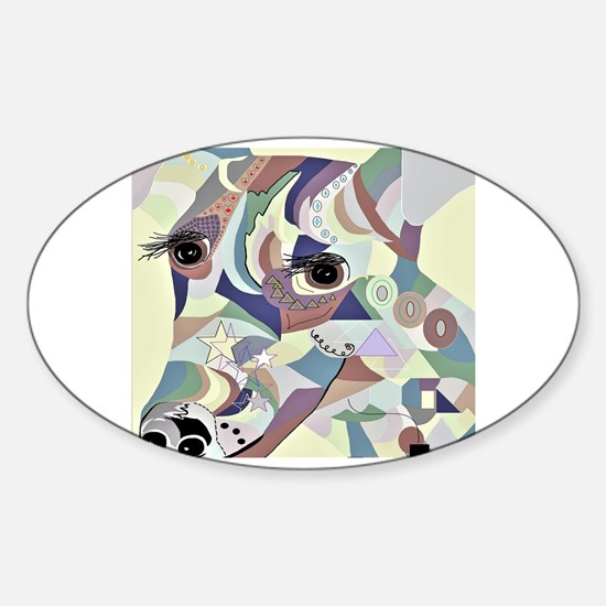 Cute Smooth fox terriers Sticker (Oval)