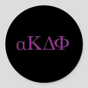 Alpha Kappa Delta Phi Purple Lett Round Car Magnet