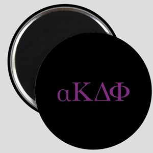 Alpha Kappa Delta Phi Purple Letters Magnet