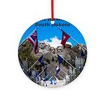 Mount Rushmore Round Ornament