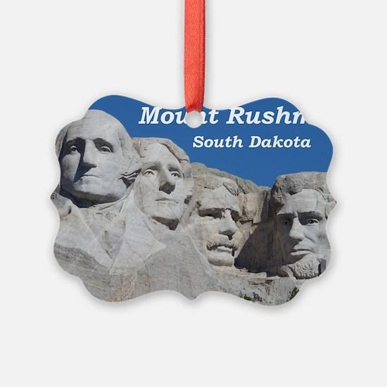 Mount Rushmore Picture Ornament