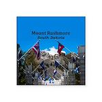 """Mount Rushmore Square Sticker 3"""" x 3"""""""