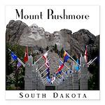 "Mount Rushmore Square Car Magnet 3"" x 3"""