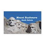 Mount Rushmore Rectangle Car Magnet