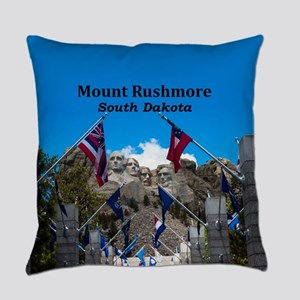 Mount Rushmore Everyday Pillow