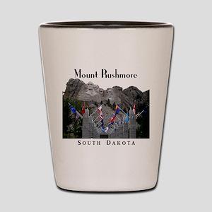 Mount Rushmore Shot Glass