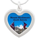 Mount Rushmore Silver Heart Necklace