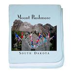 Mount Rushmore baby blanket