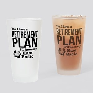Ham Radio Retirement Plan Drinking Glass