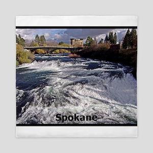 Spokane River Upper Falls Queen Duvet