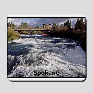 Spokane River Upper Falls Mousepad