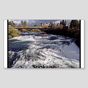 Spokane River Upper Falls Sticker