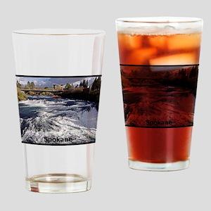 Spokane River Upper Falls Drinking Glass