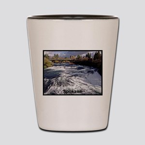 Spokane River Upper Falls Shot Glass