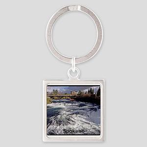 Spokane River Upper Falls Keychains