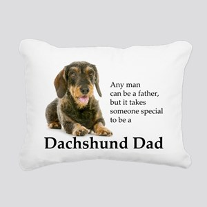 Dachshund Dad Rectangular Canvas Pillow