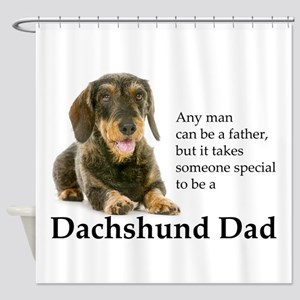 Dachshund Dad Shower Curtain