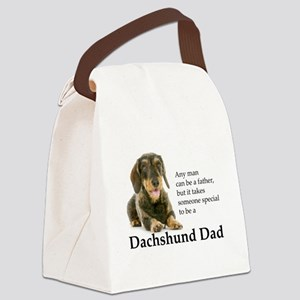 Dachshund Dad Canvas Lunch Bag