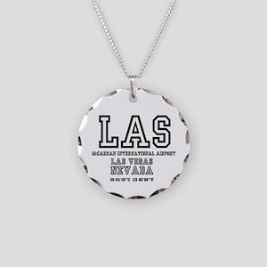 AIRPORT CODES - LAS - MCCARR Necklace Circle Charm