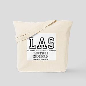 AIRPORT CODES - LAS - MCCARRAN, LAS VEGAS Tote Bag