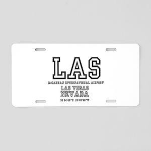 AIRPORT CODES - LAS - MCCAR Aluminum License Plate