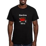Garden Diva Men's Fitted T-Shirt (dark)
