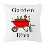 Garden Diva Woven Throw Pillow