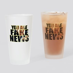 You Are Fake News Drinking Glass
