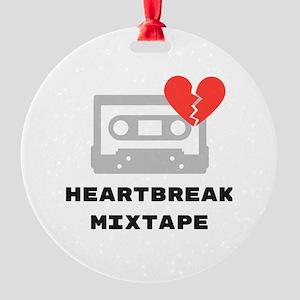 Heartbreak Mixtape Round Ornament