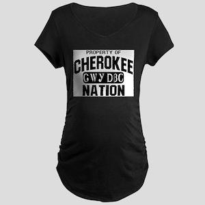 Property of Cherokee Nation Maternity T-Shirt