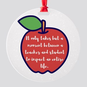 A Moment With a Teacher Round Ornament