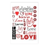 Love Words and Hearts Postcards (Package of 8)