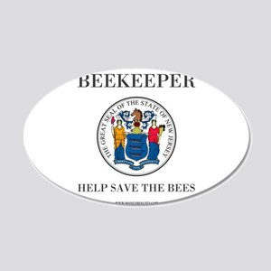New Jersey Beekeeper 20x12 Oval Wall Decal