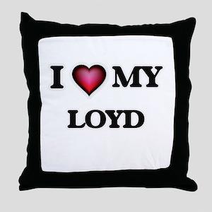 I love Loyd Throw Pillow