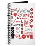 Love Words and Hearts Journal