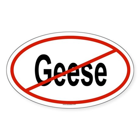 GEESE Oval Sticker