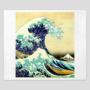 The Great Wave off Kanagawa Ukiyoe King Duvet