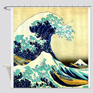 The Great Wave off Kanagawa Ukiyoe Shower Curtain