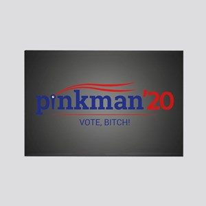 Pinkman Vote, Bitch! Rectangle Magnet