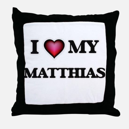 I love Matthias Throw Pillow