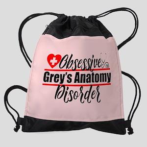 Grey's Anatomy Obsessed Drawstring Bag