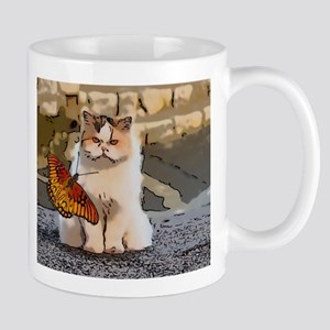 The cat and the butterfly Mugs