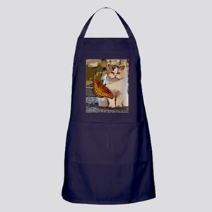 The cat and the butterfly Apron (dark)